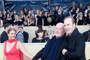 (L-R) Gennera Banks, actors Jonathan Banks and Bob Odenkirk attend the 24th Annual Screen ActorsGuild Awards at The Shrine Auditorium on January 21, 2018 in Los Angeles, California.