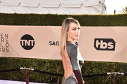 Actor Natalie Zea attends the 24th Annual Screen Actors Guild Awards at The Shrine Auditorium on January 21, 2018 in Los Angeles, California. 27522_006