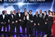 Actor Matt Walsh (C, holding award trophy) and castmates from 'Veep' accept the Outstanding Performance by an Ensemble in a Comedy Series award onstage during the 24th Annual Screen Actors Guild Awards at The Shrine Auditorium on January 21, 2018 in Los Angeles, California. 27522_013