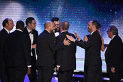 """The cast of """"Veep"""" onstage during the 24th Annual Screen ActorsGuild Awards at The Shrine Auditorium on January 21, 2018 in Los Angeles, California."""