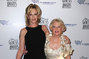Actress Melanie Griffith and  mother Tippi Hedren, actress arrives at the 24th Genesis Awards held at the Beverly Hilton Hotel on March 20, 2010 in Beverly Hills, California.