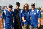 (L-R) Pete Fisher, Chuck Wicks, Bucky Covington and Phil Vassar step up to strike out cancer at City of Hope's 25th Annual Celebrity Softball Game at First Tennessee Park on June 13, 2015 in Nashville, Tennessee.