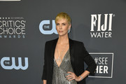 Charlize Theron attends the 25th Annual Critics' Choice Awards at Barker Hangar on January 12, 2020 in Santa Monica, California.