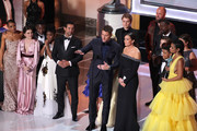 The cast of This is Us accepts the award for Outstanding Performance by an Ensemble in a Drama Series onstage during the 25th Annual Screen Actors Guild Awards at The Shrine Auditorium on January 27, 2019 in Los Angeles, California. 480468