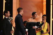 The cast of This Is Us (L-R) Jon Huertas, Eris Baker, Justin Hartley, Mandy Moore, and Susan Kelechi Watson onstage during the 25th Annual Screen ActorsGuild Awards at The Shrine Auditorium on January 27, 2019 in Los Angeles, California. 480543