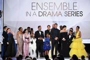 The cast of ?This Is Us? accepts Outstanding Performance by an Ensemble in a Drama Series onstage during the 25th Annual Screen ActorsGuild Awards at The Shrine Auditorium on January 27, 2019 in Los Angeles, California. 480493