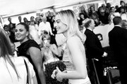Image has been shot in black and white. Color version not available.) Margot Robbie attends the 25th Annual Screen Actors Guild Awards at The Shrine Auditorium on January 27, 2019 in Los Angeles, California. 480518