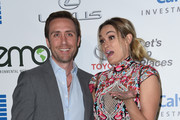 Philippe Cousteau and wife Ashlan Gorse attend the 26th annual EMA awards at Warner Bros studio lot in Burbank, on October 22, 2016. / AFP / CHRIS DELMAS
