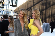 Romee Strijd (L) and Petra Nemcova attend the 26th annual Elton John AIDS Foundation Academy Awards Viewing Party sponsored by Bulgari, celebrating EJAF and the 90th Academy Awards at The City of West Hollywood Park on March 4, 2018 in West Hollywood, California.