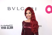 Farrah Abraham attends the 26th annual Elton John AIDS Foundation Academy Awards Viewing Party sponsored by Bulgari, celebrating EJAF and the 90th Academy Awards at The City of West Hollywood Park on March 4, 2018 in West Hollywood, California.