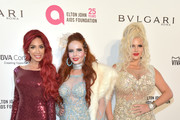 (L-R) Farrah Abraham, Phoebe Price and Sophia Vegas Wollersheim attend the 26th annual Elton John AIDS Foundation's Academy Awards Viewing Party at The City of West Hollywood Park on March 4, 2018 in West Hollywood, California.