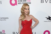 Tara Lipinski attends the 26th annual Elton John AIDS Foundation Academy Awards Viewing Party sponsored by Bulgari, celebrating EJAF and the 90th Academy Awards at The City of West Hollywood Park on March 4, 2018 in West Hollywood, California.