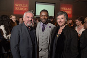 Executive Director at Palm Springs International Film Festivals Darryl Macdonald, actor David Oyelowo and Artistic director of the Palm Springs International Film Festival Helen Du Toit attend the Opening Night Reception Party at The Palm Springs Art Museum on January 2, 2015 in Palm Springs, California.