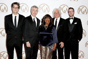 (L-R) Producer Garrett Basch, filmmaker Steve James and producers Chaz Ebert, Mark Mitten and Zak Piper attend the 26th Annual Producers Guild Of America Awards at the Hyatt Regency Century Plaza on January 24, 2015 in Los Angeles, California.