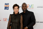 (L-R) Kris Jenner and Corey Gamble attend the 26th Annual Race to Erase MS Gala at The Beverly Hilton Hotel on May 10, 2019 in Beverly Hills, California.