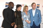 (L-R) Corey Gamble, Kris Jenner, Kathy Hilton, and Rick Hilton attend the 26th annual Race to Erase MS on May 10, 2019 in Beverly Hills, California.