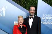 (L-R) Patricia Arquette and Eric White attend the 26th Annual Screen Actors Guild Awards at The Shrine Auditorium on January 19, 2020 in Los Angeles, California.
