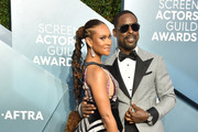 Ryan Michelle Bathe (L) and Sterling K. Brown attend the 26th Annual Screen ActorsGuild Awards at The Shrine Auditorium on January 19, 2020 in Los Angeles, California. 721430