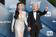 Catherine Zeta-Jones and Michael Douglas attend 26th Annual Screen Actors Guild Awards at The Shrine Auditorium on January 19, 2020 in Los Angeles, California.