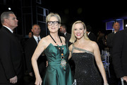 Meryl Streep and Reese Witherspoon attend the 26th Annual Screen Actors Guild Awards at The Shrine Auditorium on January 19, 2020 in Los Angeles, California. 721453