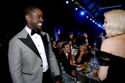 (L-R) Sterling K. Brown and Michelle Williams attend the 26th Annual Screen ActorsGuild Awards at The Shrine Auditorium on January 19, 2020 in Los Angeles, California.