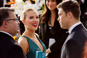 Scarlett Johansson (L) and Colin Jost attend the 26th annual Screen ActorsGuild Awards at The Shrine Auditorium on January 19, 2020 in Los Angeles, California.
