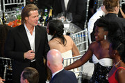 (L-R) Brad Pitt and Lupita Nyong'o attend the 26th Annual Screen ActorsGuild Awards at The Shrine Auditorium on January 19, 2020 in Los Angeles, California. 721384