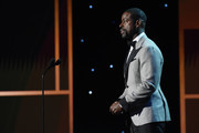Sterling K. Brown speaks onstage during the 26th Annual Screen ActorsGuild Awards at The Shrine Auditorium on January 19, 2020 in Los Angeles, California. 721407