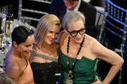 (L-R) Zoë Kravitz, Reese Witherspoon, and Meryl Streep attend the 26th Annual Screen Actors Guild Awards at The Shrine Auditorium on January 19, 2020 in Los Angeles, California. 721384