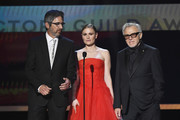 (L-R) Ray Romano, Anna Paquin, and Harvey Keitel speak onstage during the 26th Annual Screen ActorsGuild Awards at The Shrine Auditorium on January 19, 2020 in Los Angeles, California. 721359
