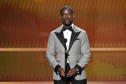 Sterling K. Brown speaks onstage during the 26th Annual Screen ActorsGuild Awards at The Shrine Auditorium on January 19, 2020 in Los Angeles, California. 721359