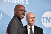 (L-R) SAG-AFTRA Foundation President Courtney B. Vance and Jeffrey Katzenberg pose in the press room during the 26th Annual Screen ActorsGuild Awards at The Shrine Auditorium on January 19, 2020 in Los Angeles, California. 721430