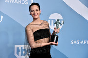 Phoebe Waller-Bridge poses in the press room with the trophy for Best Performance by an Actress in a Television Series - Musical or Comedy during the 26th Annual Screen Actors Guild Awards at The Shrine Auditorium on January 19, 2020 in Los Angeles, California. 721430