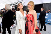 Millie Bobby Brown and Cara Buono attend the 26th Annual Screen ActorsGuild Awards at The Shrine Auditorium on January 19, 2020 in Los Angeles, California. 721313
