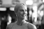 Image has been converted to black and white.) Charlize Theron attends the 26th Annual Screen ActorsGuild Awards at The Shrine Auditorium on January 19, 2020 in Los Angeles, California.