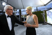 John Lithgow and Charlize Theron attend the 26th Annual Screen ActorsGuild Awards at The Shrine Auditorium on January 19, 2020 in Los Angeles, California. 721384