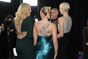 (L-R) Laura Dern, Scarlett Johansson, and Charlize Theron, tattoo, hair, and fashion details, attend the 26th Annual Screen ActorsGuild Awards at The Shrine Auditorium on January 19, 2020 in Los Angeles, California. 721407