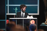 Peter Dinklage accepts Outstanding Performance by a Male Actor in a Drama Series for 'Game of Thrones'  onstage during the 26th Annual Screen ActorsGuild Awards at The Shrine Auditorium on January 19, 2020 in Los Angeles, California.
