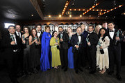 Winners of Outstanding Performance by an Ensemble in a Comedy Series for 'The Marvelous Mrs. Maisel' cast and crew pose in the trophy room during the 26th Annual Screen Actors Guild Awards at The Shrine Auditorium on January 19, 2020 in Los Angeles, California. 721453