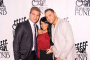 (L-R) Tom Murro, Angelina Pivarnick and Chris Nirschel attend the 26th Annual Great Sports Legends Dinner to benefit the Buoniconti Fund To Cure Paralysis at The Waldorf=Astoria on September 26, 2011 in New York City.