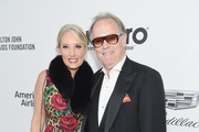 Margaret DeVogelaere (L) and Peter Fonda attend the 27th annual Elton John AIDS Foundation Academy Awards Viewing Party sponsored by IMDb and Neuro Drinks celebrating EJAF and the 91st Academy Awards on February 24, 2019 in West Hollywood, California.