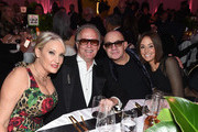 (L-R) Margaret DeVogelaere, Peter Fonda, Bernie Taupin, and  Heather Lynn Hodgins Kidd attend the 27th annual Elton John AIDS Foundation Academy Awards Viewing Party sponsored by IMDb and Neuro Drinks celebrating EJAF and the 91st Academy Awards on February 24, 2019 in West Hollywood, California.