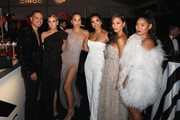 Evan Ross, Ashlee Simpson, Jasmine Sanders, Julissa Bermudez, Nicole Scherzinger and Chloe Flower attend the 27th annual Elton John AIDS Foundation Academy Awards Viewing Party celebrating EJAF and the 91st Academy Awards with Cocktails By CIROC Vodka and Tequila Don Julio on February 24, 2019 in West Hollywood, California.