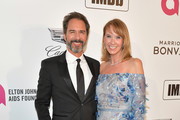 Eric McCormack and Janet Holden attend the 27th annual Elton John AIDS Foundation Academy Awards Viewing Party celebrating EJAF and the 91st Academy Awards on February 24, 2019 in West Hollywood, California.