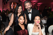 (L-R) Milan Blagojevic, Shanina Shaik and Adriana Lima attend the 27th annual Elton John AIDS Foundation Academy Awards Viewing Party sponsored by IMDb and Neuro Drinks celebrating EJAF and the 91st Academy Awards on February 24, 2019 in West Hollywood, California.