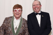 Sir Elton John (L) and  Col Needham attend the 27th annual Elton John AIDS Foundation Academy Awards Viewing Party sponsored by IMDb and Neuro Drinks celebrating EJAF and the 91st Academy Awards on February 24, 2019 in West Hollywood, California.