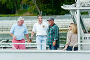 (L-R) Neil Bergin, Oyster Bay Commisioner of Environmental Resources, New York State Governor Mario Cuomo, Billy Joel and Alexis Roderick attend Friends Of The Bay Cleanup at Theodore Roosevelt Park on September 21, 2013 in Oyster Bay, New York.