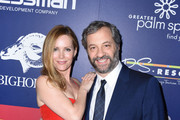 """Actress Leslie Mann and Judd Apatow attend the Closing Night Screening of """"The Comedian"""" at the 28th Annual Palm Springs International Film Festival on January 15, 2017 in Palm Springs, California."""