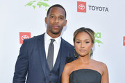 Victor Cruz and Karrueche Tran attend the 29th Annual Environmental Media Awards at Montage Beverly Hills on May 30, 2019 in Beverly Hills, California.