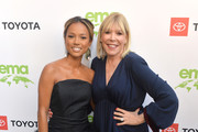 Karrueche Tran and CEO of the Environmental Media Association Debbie Levin attend The 29th Annual Environmental Media Awards at Montage Beverly Hills on May 30, 2019 in Beverly Hills, California.